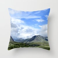 norway Throw Pillows featuring Rondane - Norway by AstridJN