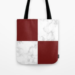 marble and red tiles Tote Bag