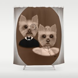 """""""Lord Biscuit and Lady Heidi"""" Shower Curtain"""