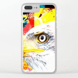 White Eagle Clear iPhone Case