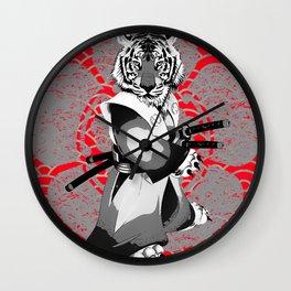 Tiger Samurai Wall Clock