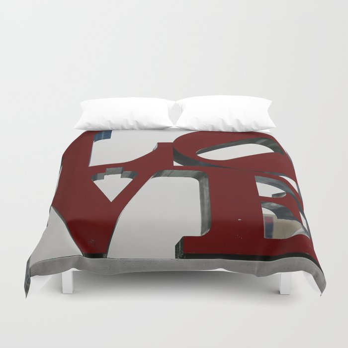 Love Philadelphia Sculpture Duvet Cover