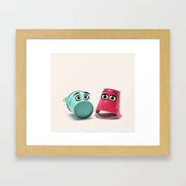 Chatting Buckets Framed Art Print
