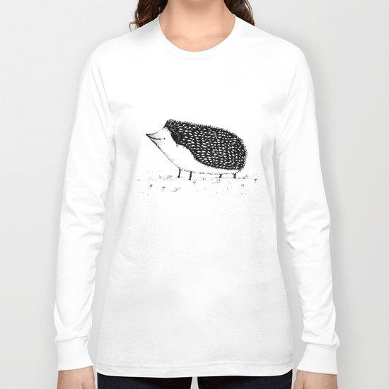 Monochrome Hedgehog Long Sleeve T-shirt