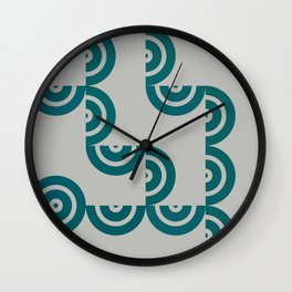 Hedgehog abstract geometric pattern with colorful shapes 201 Wall Clock
