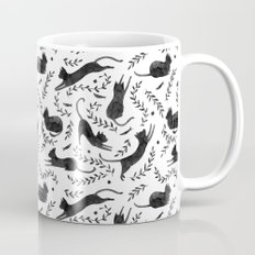 Black Cats Pattern Mug
