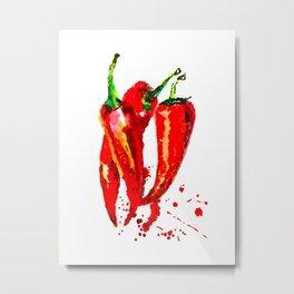 Red Chilli Metal Print