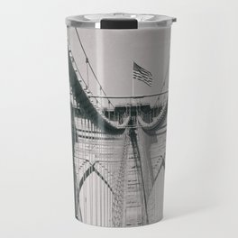 Brooklyn bridge, architecture, vintage photography, new york city, NYC, Manhattan view Travel Mug