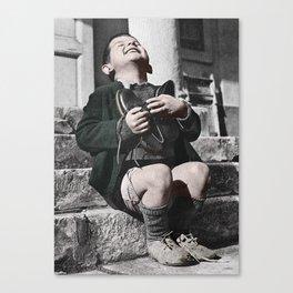 Colourised: Austrian Boy Canvas Print