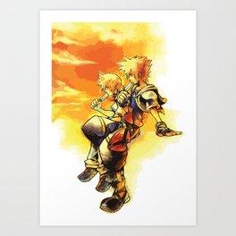 Sora and Roxas Art Print