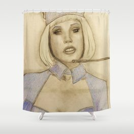 Please assume your individual position Shower Curtain