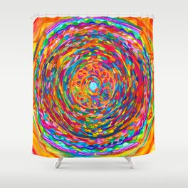 The Flag of the United States of Humankind Shower Curtain