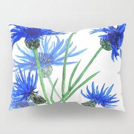 blue cornflower Pillow Sham