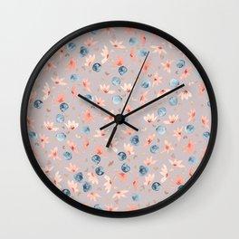 Spring Floral - Mushroom Wall Clock