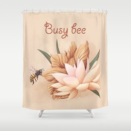 Full bloom | Busy bee Shower Curtain