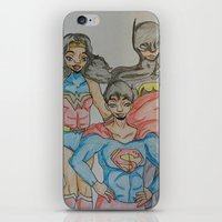 dc comics iPhone & iPod Skins featuring DC: Trinity by aka-noodle