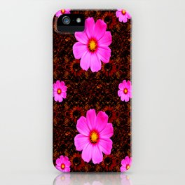 FUCHSIA PINK FLOWERS &  DARK ART iPhone Case