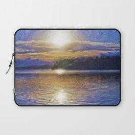 Sun Rising Over Lake - Art Edit Laptop Sleeve