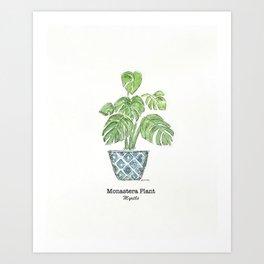 Monastera Plant Art Print