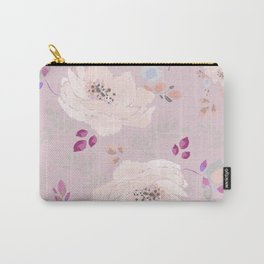 Soft pink blooming watercolor roses Carry-All Pouch