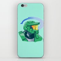 halo iPhone & iPod Skins featuring Halo by Art of Tyler Newcomb