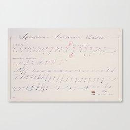 Spencerian Lowercase Basics Canvas Print