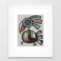 parrot Framed Art Prints featuring Parrot by Rudolf Brancovsky