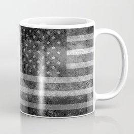 US flag, Old Glory in black & white Coffee Mug