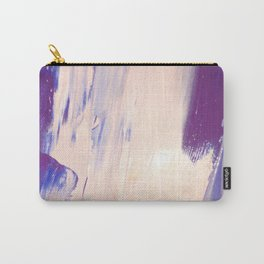 Pink and Blue Paint Carry-All Pouch