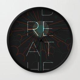 i breathe Wall Clock