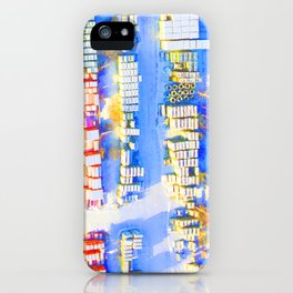 Birds Eye Blue iPhone Case