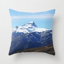 Uncompahgre Peak First Snow Throw Pillow