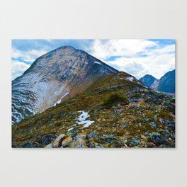 Pyramid Mountain Summit Hike in Jasper National Park, Canada Canvas Print