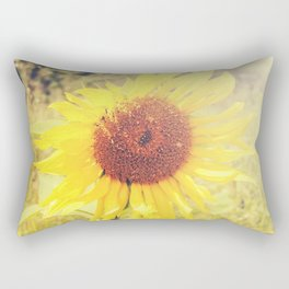 Golden Sunflower Rectangular Pillow
