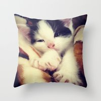 harley Throw Pillows featuring Harley by Louisa D