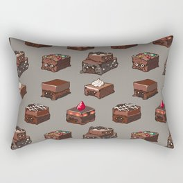Pug Brownies Rectangular Pillow