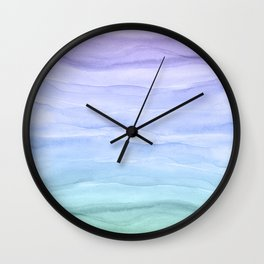 Layers Blue Ombre - Watercolor Abstract Wall Clock