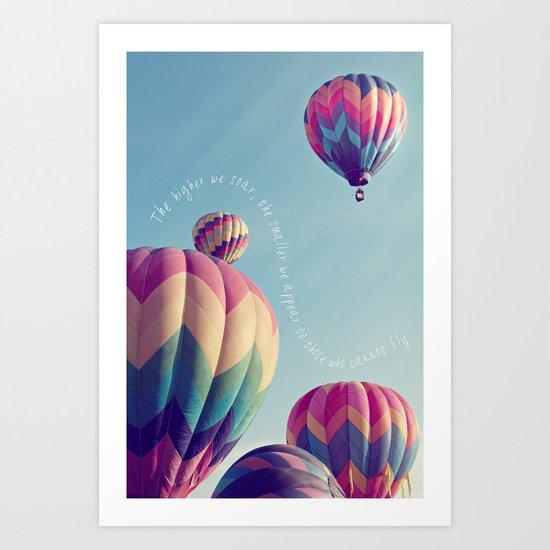 the higher we soar Art Print
