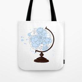 Floral Globus #2 Tote Bag