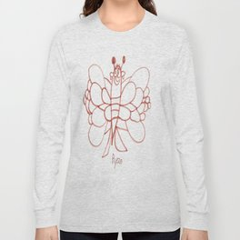 Lady Butterfly Long Sleeve T-shirt