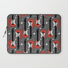Rock and Roll_ Red and White Guitar Laptop Sleeve