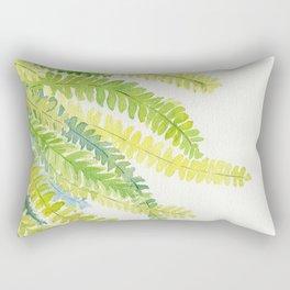 Fern Leaves Watercolor Rectangular Pillow
