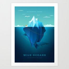 Wild Oceans Art Print