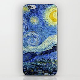 "Vincent van Gogh ""The Starry Night"" iPhone Skin"