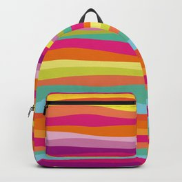Bold Colorful Stripes Waves Backpack