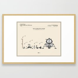 Space Lander Patent Framed Art Print