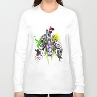 lungs Long Sleeve T-shirts featuring Lungs by Nadia Cruikshanks