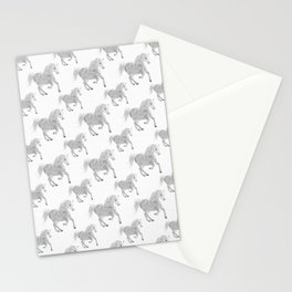 White Horse Pattern Stationery Cards