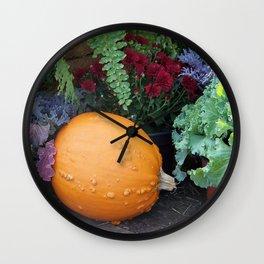 Beautiful Fall Still Life Wall Clock
