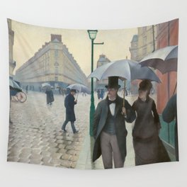 Gustave Caillebotte - Paris Street. Rainy Day  Wall Tapestry